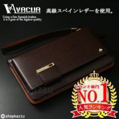 セカンドバッグ メンズ 財布 バッグ スペインレザー 本革 革 ラウンドファスナー VACUA ヴァキュア 【VA-003】