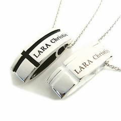 ペアネックレス 2本セット シルバー   シンプル 人気 ブランド LARA Christie マリンクロス ペアネックレス p3119-p