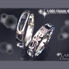 ペアリング 2本セット シンプル お揃い ブランド LARA Christie エターナルペアリング R586-P