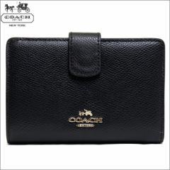 あす着 コーチ COACH 二つ折り財布 ブラック レザー ミディアム f53436imblk アウトレット 新品