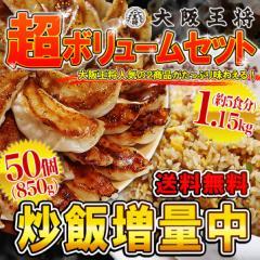 【チャーハン増量中】超ボリュームセット[肉餃子50個+炒め炒飯5袋]※お一人様1セットまで※