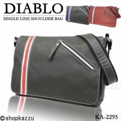 ショルダーバッグ メンズ カジュアル シングルライン バッグ 鞄 かばん 斜め掛け ショルダー DIABLO ディアブロ【KA-2295】