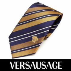 VERSACE ヴェルサーチ ネクタイ 新柄 メンズ 紳士 (56) 定価18360円 1161-0003