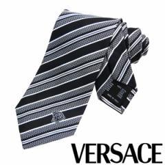 VERSACE ヴェルサーチ ネクタイ 新柄 メンズ 紳士 (16) 定価18360円 CR8LSEB0633 0007