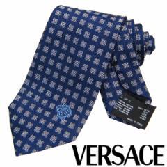 VERSACE ヴェルサーチ ネクタイ 新柄 メンズ 紳士 (6) 定価18360円 CR8LSEB0576 0008