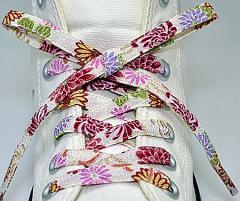 メール便 和柄靴ひも 柄多数ちりめん靴紐ノーマル おしゃれなメンズレディーススニーカーくつひも クツヒモ 日本製シューレース(色195)