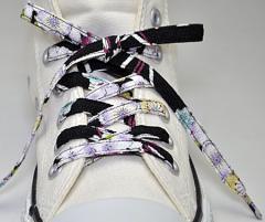 メール便 和柄靴ひも 柄多数ちりめん靴紐ノーマル おしゃれなメンズレディーススニーカーくつひも クツヒモ 日本製シューレース(色201)
