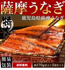 父の日 鹿児島県産 うなぎ 蒲焼き ギフト 約170gx2尾セット 送料無料 早割 数量限定