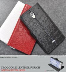 aquos crystal 305sh 手帳 レザー ケース 305sh かわいい シンプル 305sh ケース 手帳型 きれい アクオス スマホケース チェック 黒  赤