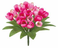 造花 オランダチューリップブッシュ 選べる4色 モーブ ピンク オレンジ イエロー 春の花 単品