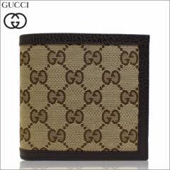 あす着 グッチ GUCCI 財布 二つ折り財布 GGキャンバス ベージュ アウトレット 150413-ky9ln-9903  新品