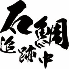カッティングステッカー フィッシング カッコイイ カスタム 車【石鯛 追跡中 (イシダイ 釣り) (2枚1セット)・2(F)】【メール便】