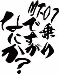 カッティングステッカー 〜 MT-07乗りですがなにか?(ヤマハ・YAMAHA)(2枚1セット)  〜 車 バイク カッコイイ カスタム (B)