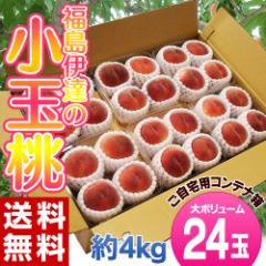 《送料無料》福島県産「伊達の小玉桃」24玉(4玉×6パック)約4kg ☆