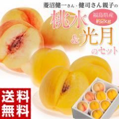 ≪送料無料≫菱沼さんの桃『桃水&光月』 福島産 約2kg(目安6〜8玉) ☆