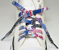 メール便 和柄靴ひも 柄多数ちりめん靴紐ノーマル おしゃれなメンズレディーススニーカーくつひも クツヒモ 日本製シューレース(色145)