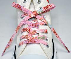 メール便 和柄靴ひも 柄多数ちりめん靴紐ロング おしゃれなメンズレディーススニーカーくつひも クツヒモ 日本製シューレース(色102L)