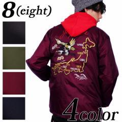 コーチジャケット メンズ ジャケット 全4色 新作 アウター イーグル スカジャン ナイロン 8(eight) エイト 8
