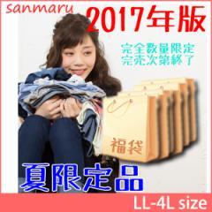 【送料無料】福袋 大きいサイズ レディース 数量限定 春夏3着入り HAPPY BAG LL 3L 4L