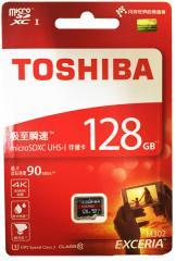 送料無料 microSDカード microSDXC 128GB  東芝 Toshiba 超高速UHS-I U3 90MB/S 4K対応 海外パッケージ品