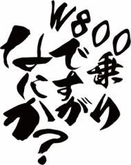 カッティングステッカー 車 バイク カッコイイ 傷隠し【W800乗りですがなにか?(カワサキ・KAWASAKI)(2枚1セット) (B)】【メール便】