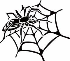 カッティングステッカー 車 バイク カッコイイ カスタム 【スパイダー クモ(蜘蛛) トライバル ・14(右向き) サイズL】【メール便】