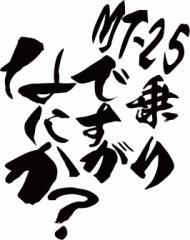 カッティングステッカー 車 バイク カッコイイ カスタム【MT-25乗りですがなにか?(ヤマハ・YAMAHA)(2枚1セット) (B)】【メール便】