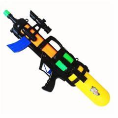 水鉄砲 弾丸ビーム【飛距離8M】ウォーターガン ポンプアクション式  ブラック/ホワイト