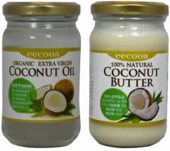 エクーア エキストラバージンココナッツオイル(250ml) & ココナッツバター(250g)