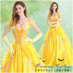 ハロウィン衣装 コスプレ衣装 仮装 ロングドレス パフ・スリーブ プリンセス ティアードスカート セクシー ドレス