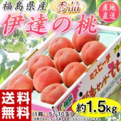 もも 桃 お中元 福島 伊達の桃 秀品 約1.5kg(5〜10玉) 常温 送料無料