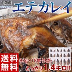 ≪送料無料≫山陰産 エテカレイ(宗八かれい) 干物 18尾:約1.4kg(2尾×9袋) ※冷凍 〇