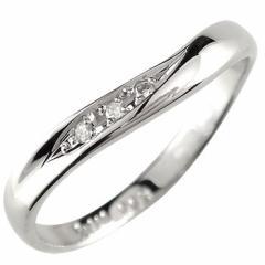 指輪 キュービックジルコニア リング ピンキーリング V字 シルバー ウェーブリング 送料無料 おしゃれ レディース
