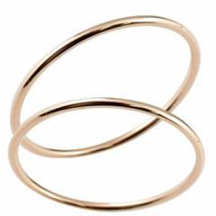 結婚指輪 マリッジリング ピンクゴールドk18 18金 地金 ストレート 華奢 スイートペアリィー カップル 最短納期 送料無料 パートナー レ