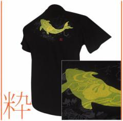 メール便 和柄Tシャツ半袖 メンズレディース 日本製 丸首 クルーネック 和風風情 大人おしゃれカジュアル 倭人草衣粋鯉
