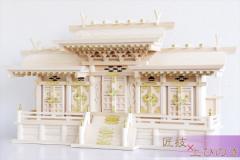 マス組付き五社 大 ■ 美しい、東濃桧 ■ 升組造り 屋根違い 特大五社型 ■ マス組付 神棚
