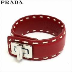プラダ PRADA ブレスレット レザー レッド ROSSO アウトレット 1aj092-cica-rosso  新品