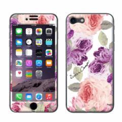iPhone8 iPhone7 兼用【DRESSCAMPxGizmobies(ギズモビーズ)】 「ROSEPINK」 プロテクター カバー ラメ 花柄