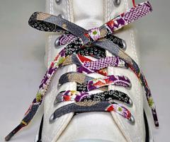 メール便 和柄靴ひも 柄多数ちりめん靴紐ノーマル おしゃれなメンズレディーススニーカーくつひも クツヒモ 日本製シューレース(色143)