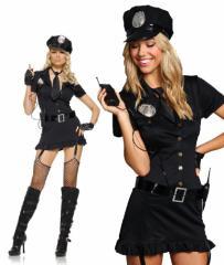 即納【送料無料 Leg Avenue】セクシー ポリス 6点セット☆83344 警官(ハロウィン コスプレ コスチューム 衣装)(120906-lg-83344)