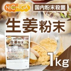 生姜粉末 国内粉末殺菌 ジンジャー 1kg(スプーン付) [02] NICHIGA ニチガ