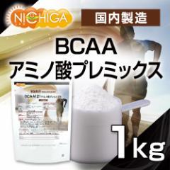 国内製造 BCAA アミノ酸プレミックス 1kg(計量スプーン付) [02] NICHIGA ニチガ