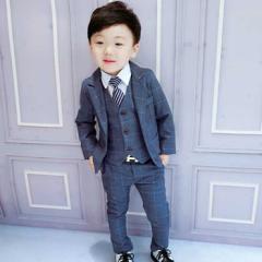 子供スーツ 3点セット フォーマル 子供発表会入学式 スーツ 男の子スーツ キッズ ジュニア 紳士服 七五三 子供スーツ こどもスーツキッズ