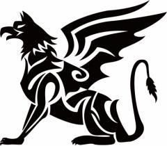 カッティングステッカー 車 バイク オシャレ カッコイイ カスタム 【幻獣 グリフォン トライバル ・8(左向き) サイズL】【メール便】