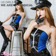 コスプレ ポリス ボディコン 衣装 仮装 ミニスカポリス セクシー 制服 ハロウィン コスチューム 警察 警察官 女性 帽子セット 団体