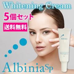 送料無料☆5個セットアルバニア SP ホワイトニングクリーム Albinia SP 〜Whitening Cream〜/医薬部外品フェイスクリーム