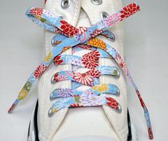 メール便 和柄靴ひも 柄多数ちりめん靴紐ノーマル おしゃれなメンズレディーススニーカーくつひも クツヒモ 日本製シューレース(色108)