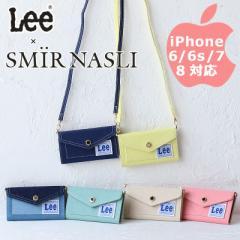 サミールナスリ iphoneケース Lee 送料無料 SMIRNASLI iPhone6/6s/7/8対応 手帳型 リー コラボ  011200064 スマホケース