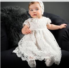 【即納】【ベビー】新生児スムースドレス&帽子セット【赤ちゃん ベビー服 ベビーウェア セレモニードレス お宮参り お出かけ】