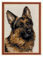 RIOLISクロスステッチ刺繍キット No.1068 「German Shepherd」 (ジャーマン・シェパード・ドッグ 犬)